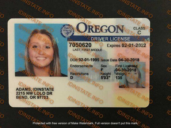 SCANNABLE OREGON FAKE ID