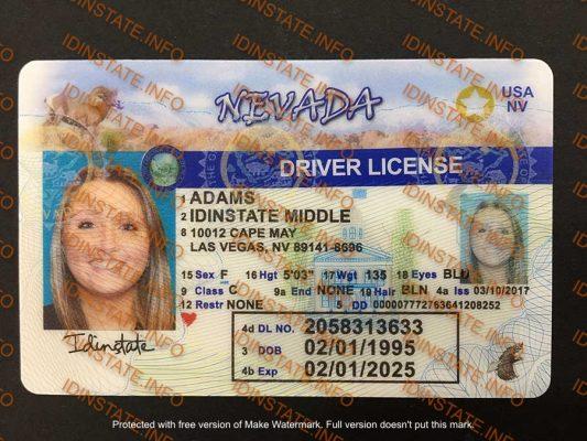 FAKE ID NEVADA STATE